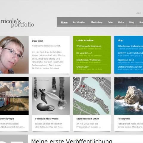 Nicole's Portfolio (aktuelle Webseite)