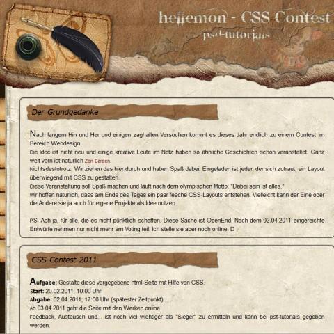 PSD-CSS Contest 2011