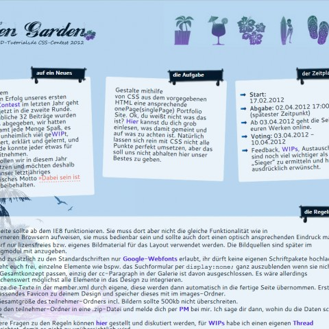 PSD-Zen-Garden 2012 - CSS Contest