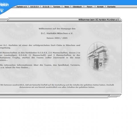 alte DC Harlekin Webseite