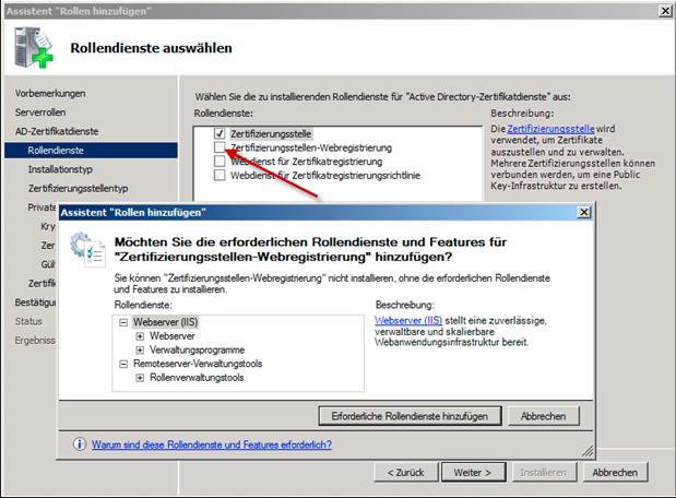 Active-Directory-Zertifikatdienste (PKI) Installieren ...