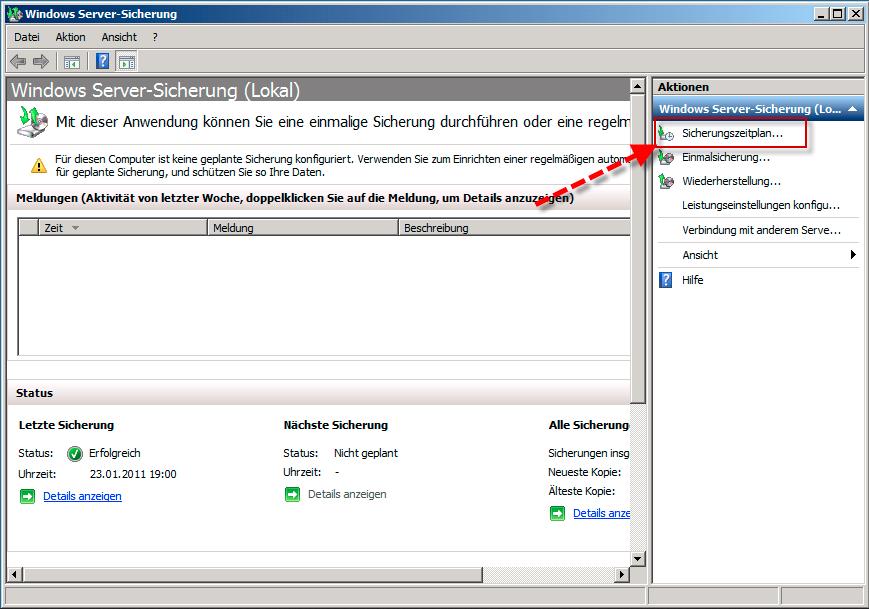 datensicherung erstellen windows 7