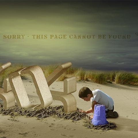 PSD 404 Error Page