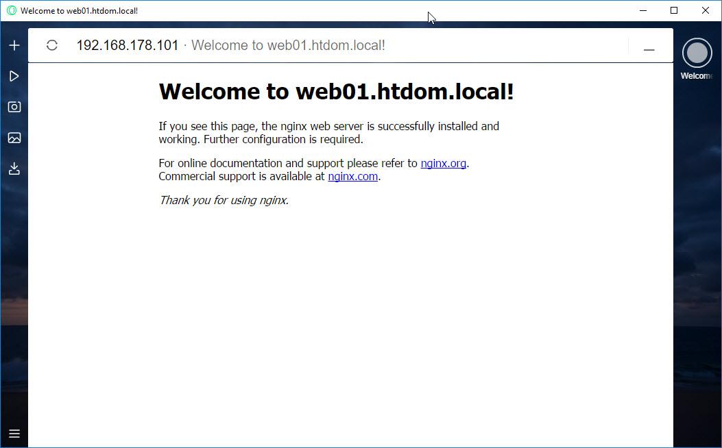 Nginx Helles Portfolio Server Und Client Howtos